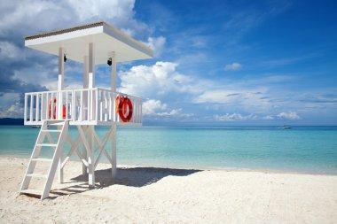 Beach guard tower in Boracay