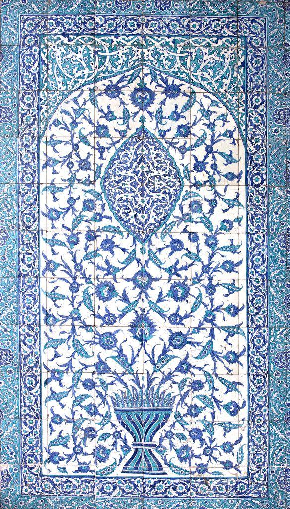 Tile panel in Hatice Turhan Sultan Turbeh, Istanbul, Turkey