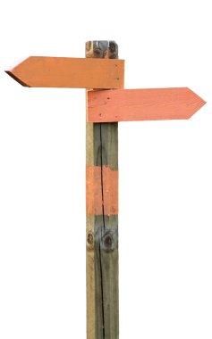 Orange signpost