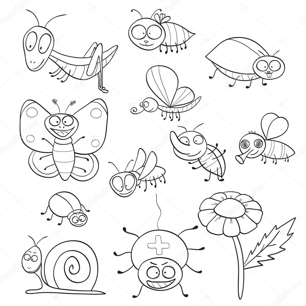 libro para colorear con los insectos — Vector de stock © jenpo5 ...