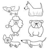 Fotografie Malbuch mit Cartoon Hunde