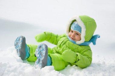 The child on snow