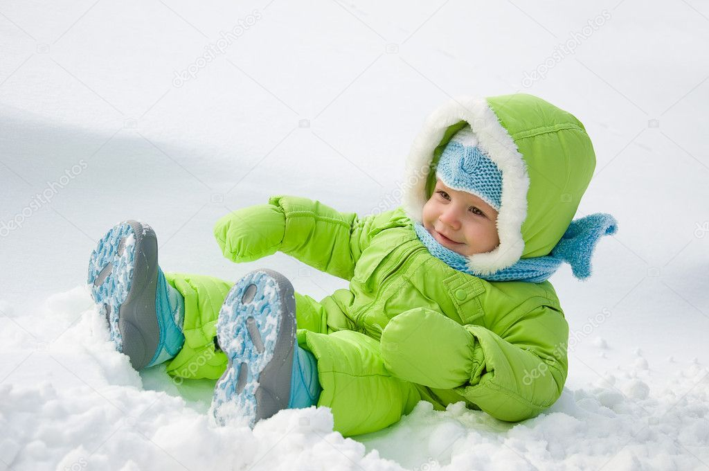 The child on snow