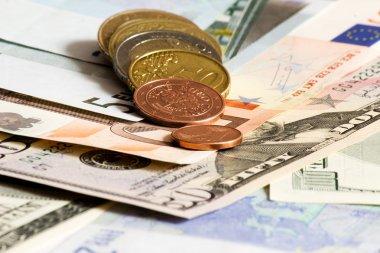Dollars Euro and Czech money