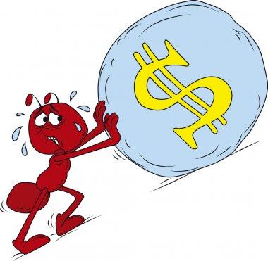Sisyphus red ant