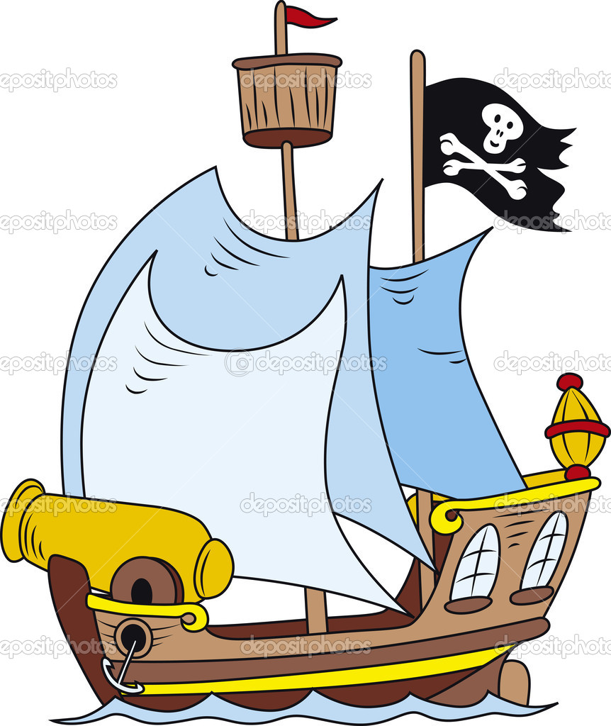 pirate ship u2014 stock vector suljo 11491934