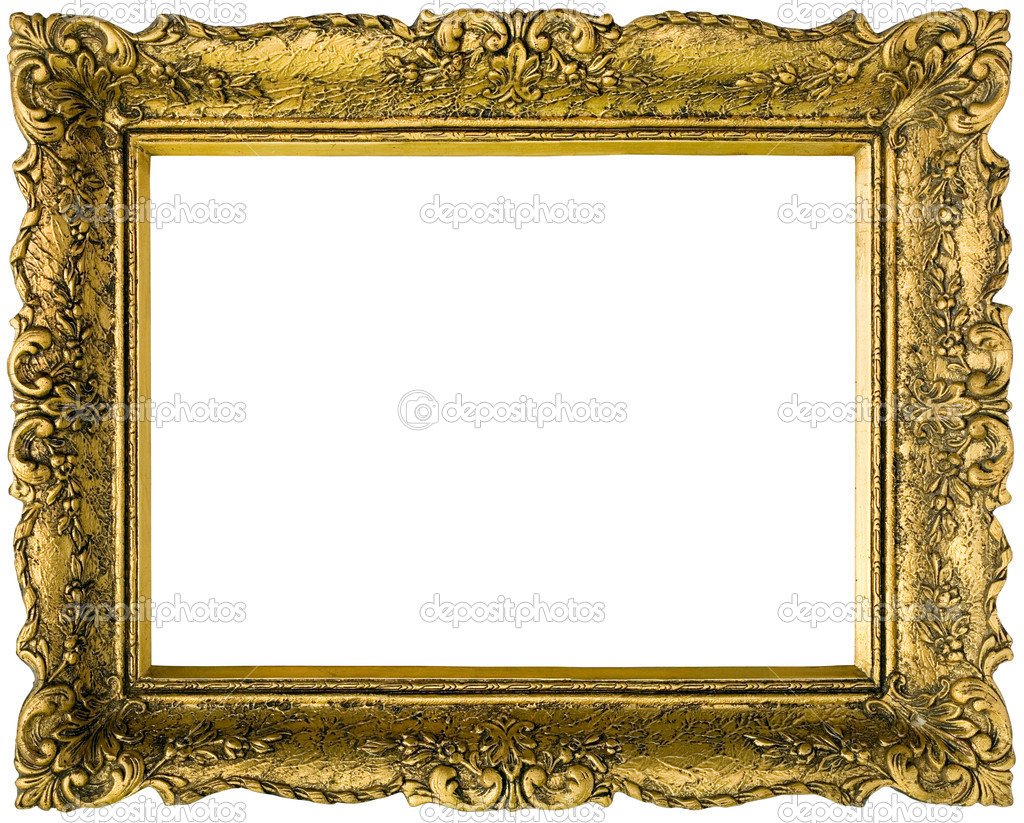 vergoldete goldener Rahmen ausgeschnitten — Stockfoto © Suljo #11660220