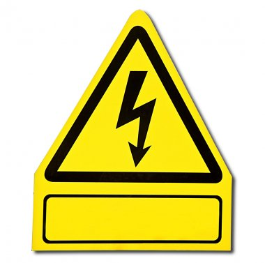 The Sign of danger of electricity from high voltage isolated on