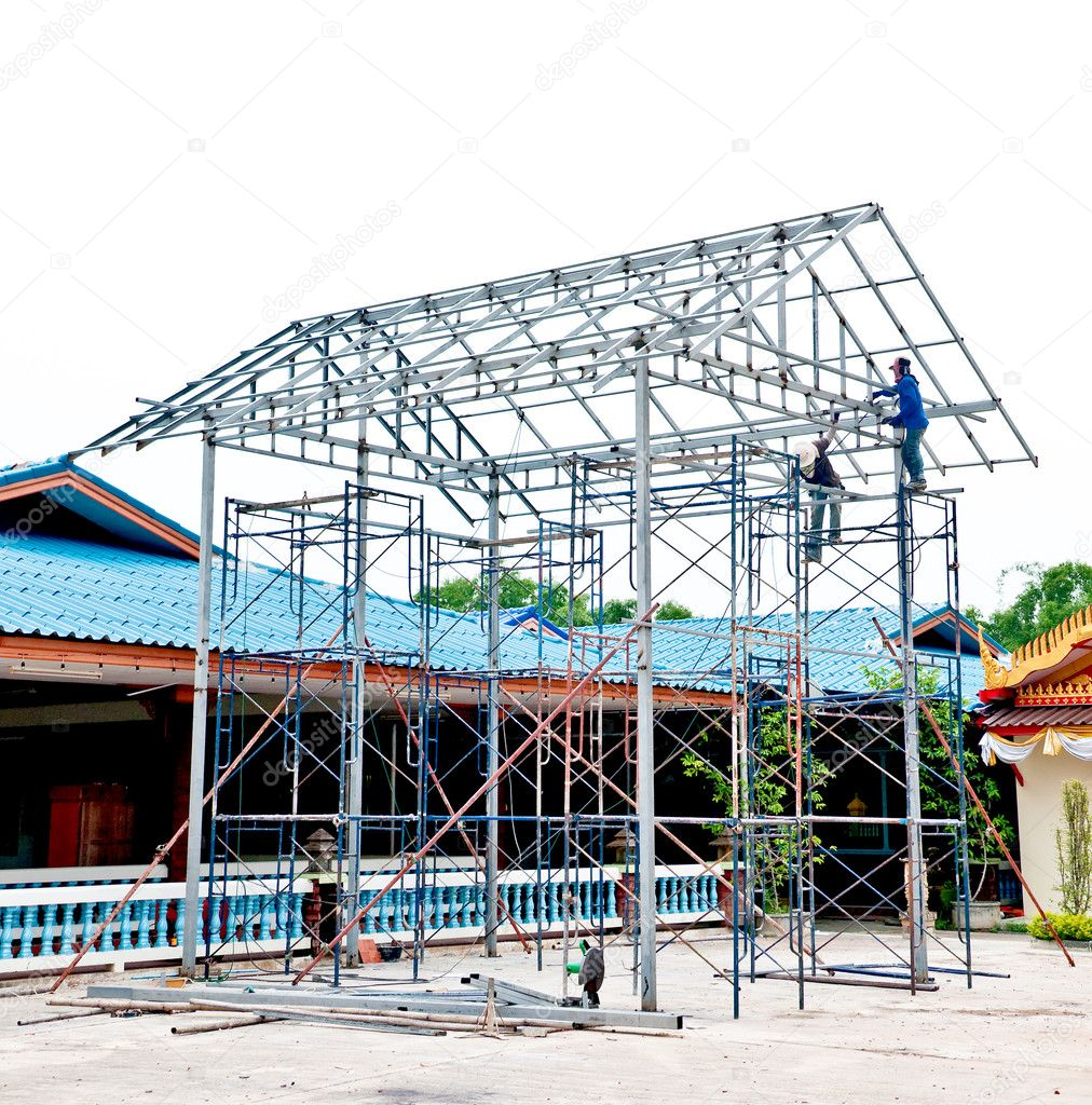 The Under construction using steel frames