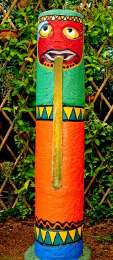 The Colorful of totem pole