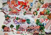 Photo BANGKOK ,THAILAND - MAY 6 : Ancient painting on monastery wall