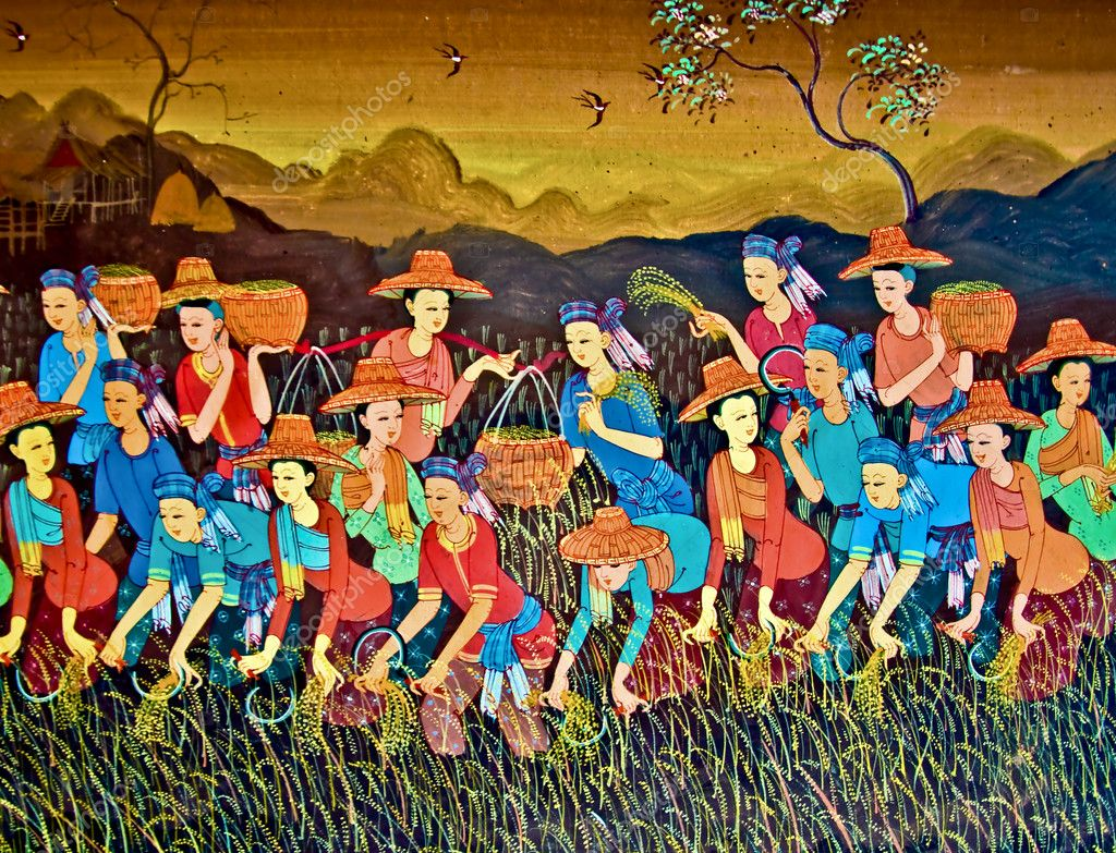 The Painting art of native thai style