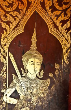The Traditional Thai style painting art