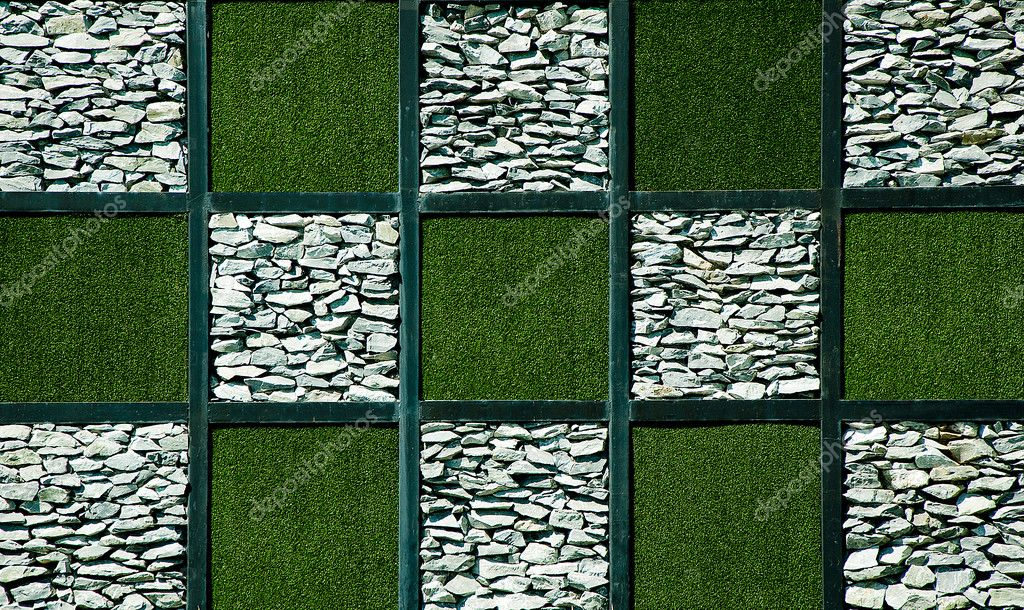 Abstract of artificial grass with stone