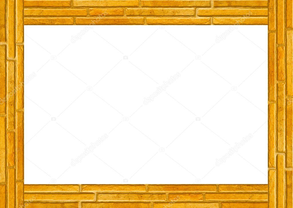 Cadre Vide le cadre vide du mur de briques — photographie cbenjasuwan © #12180640