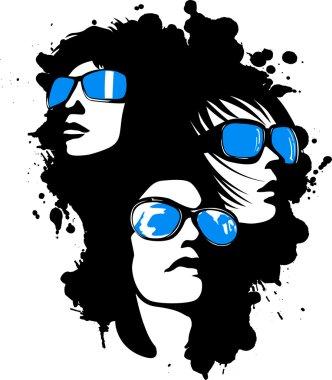 Artistic woman face illustration