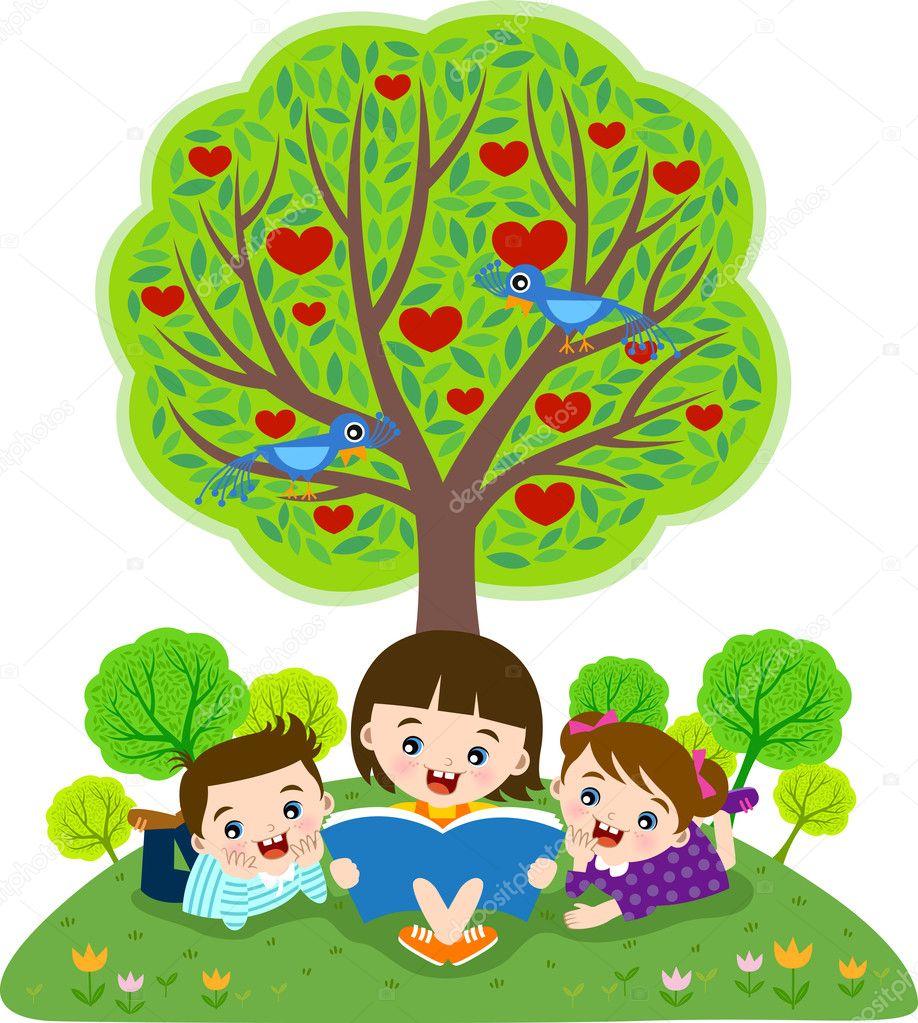 children reading stock vectors royalty free children reading