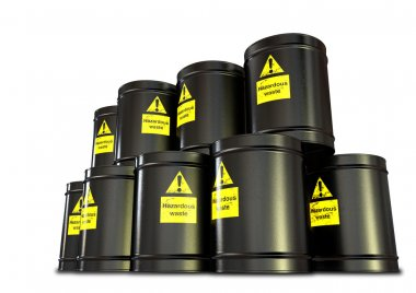 Hazardous Waste Barrel Stack