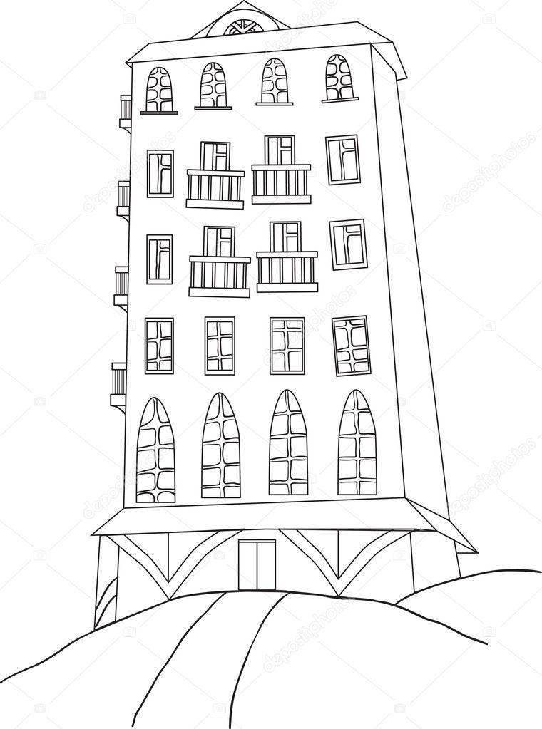 libro de color la ciudad rascacielos — Archivo Imágenes Vectoriales ...