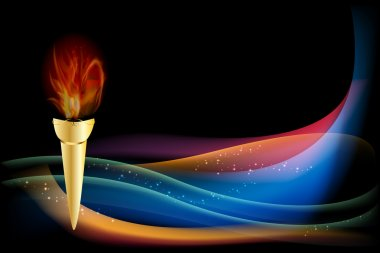 Abstract background - Olympic flame