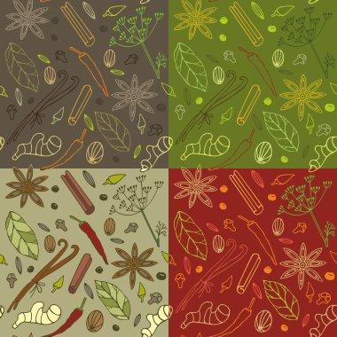 Spices kitchen pattern