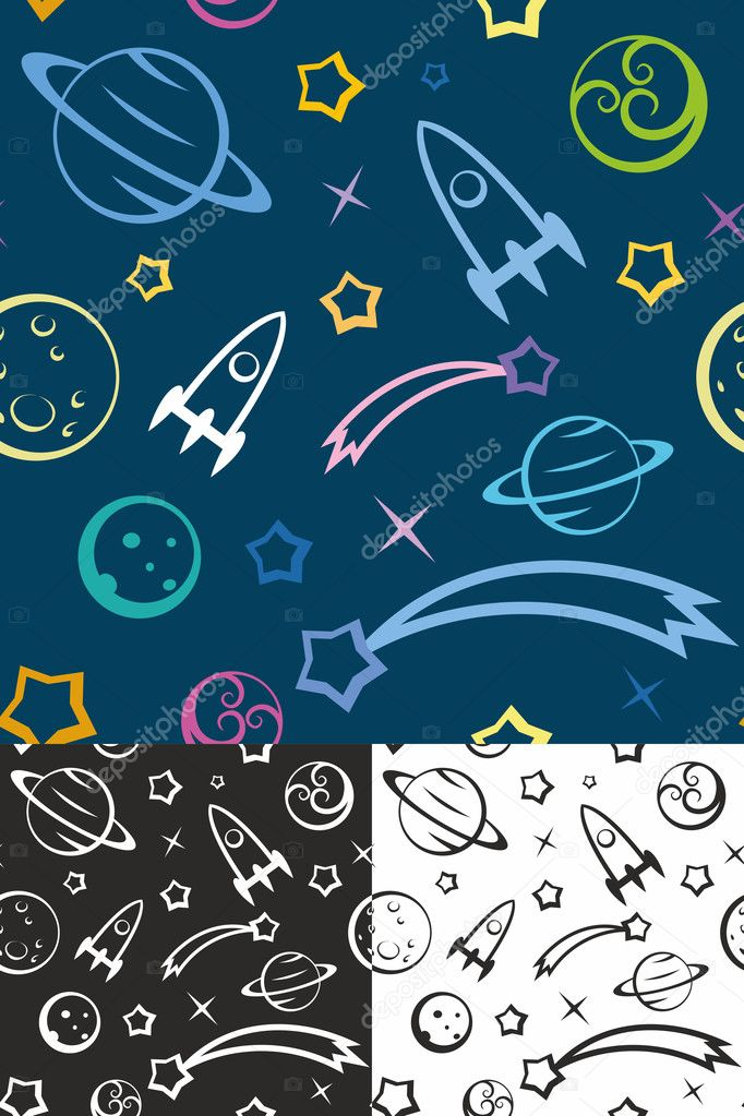 Seamless pattern Space