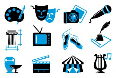 Culture and Art vector icons stock vector