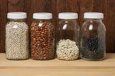 Fotografie Bohnen im Glas Kanister in einer Küche
