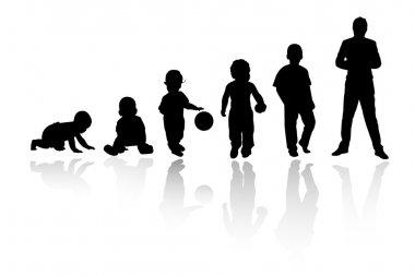 Age evolution silhouettes