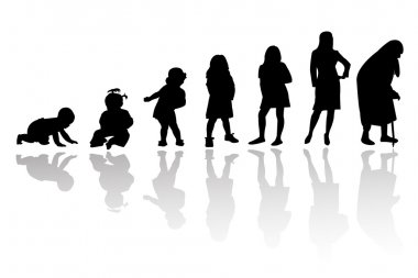 Age evolution silhouettes