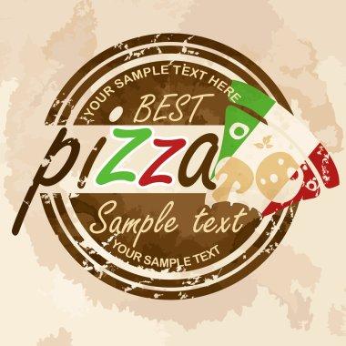 Pizza, label design.