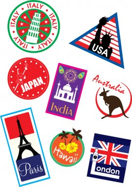 Country travel sticker
