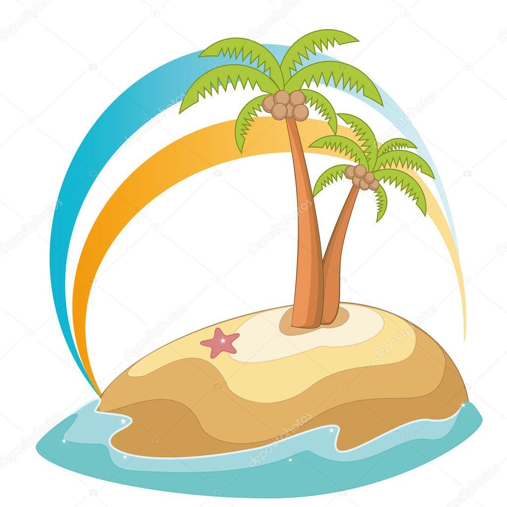 palm tree u2014 stock vector l0la 10784137