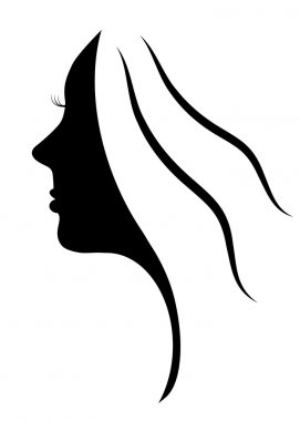 Beautiful silhouette of young woman