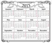 Fotografie 2013 retro calendar grid