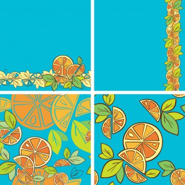 Seamless background Citrus Mix