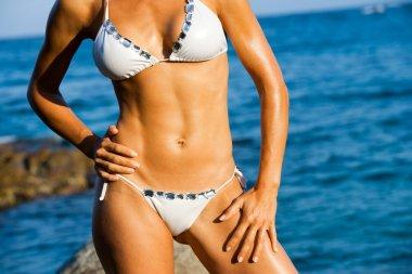 Attractive female body tan.