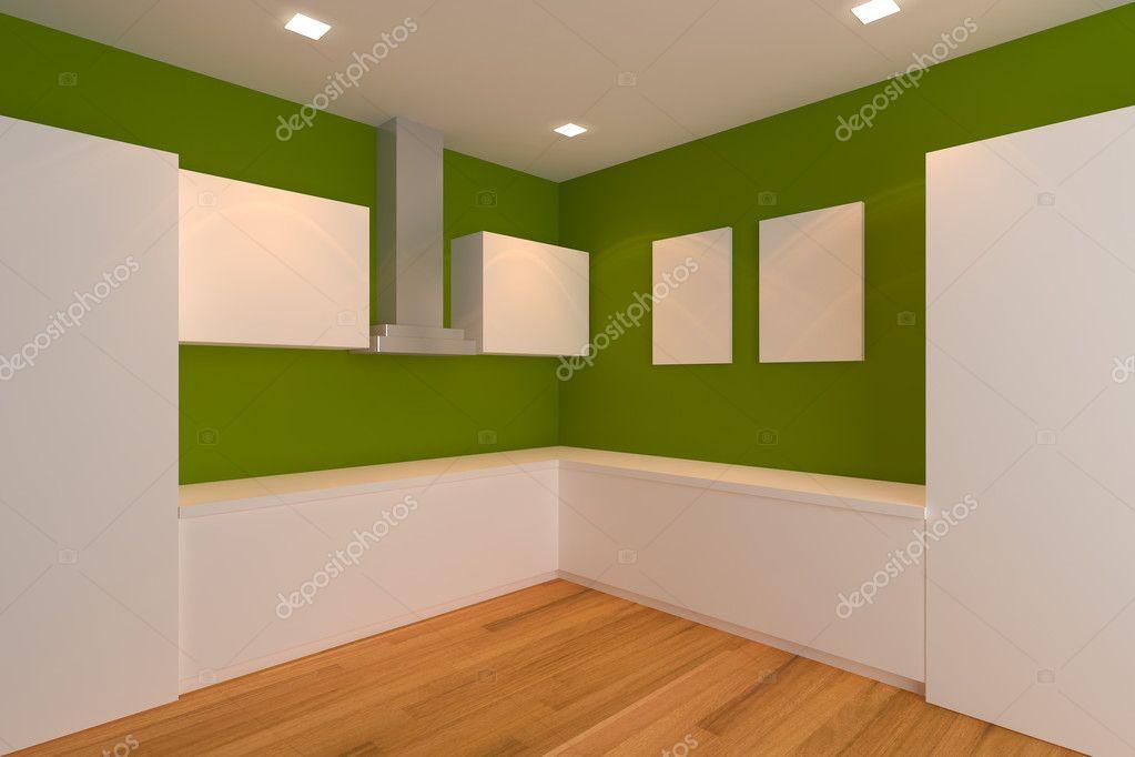 sala cucina verde — Foto Stock © sumetho #11090349