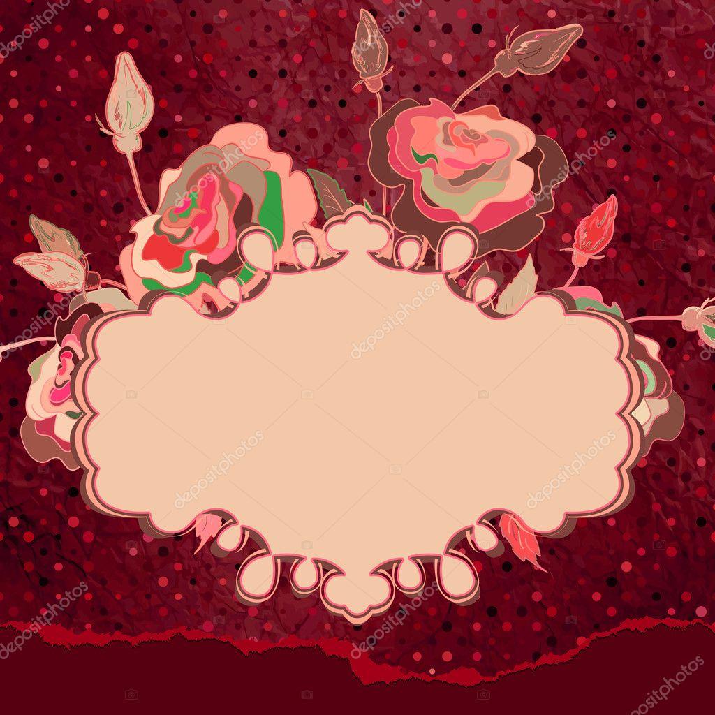 Cute wedding invitation card with polka dot. EPS 8 — Stock Vector ...