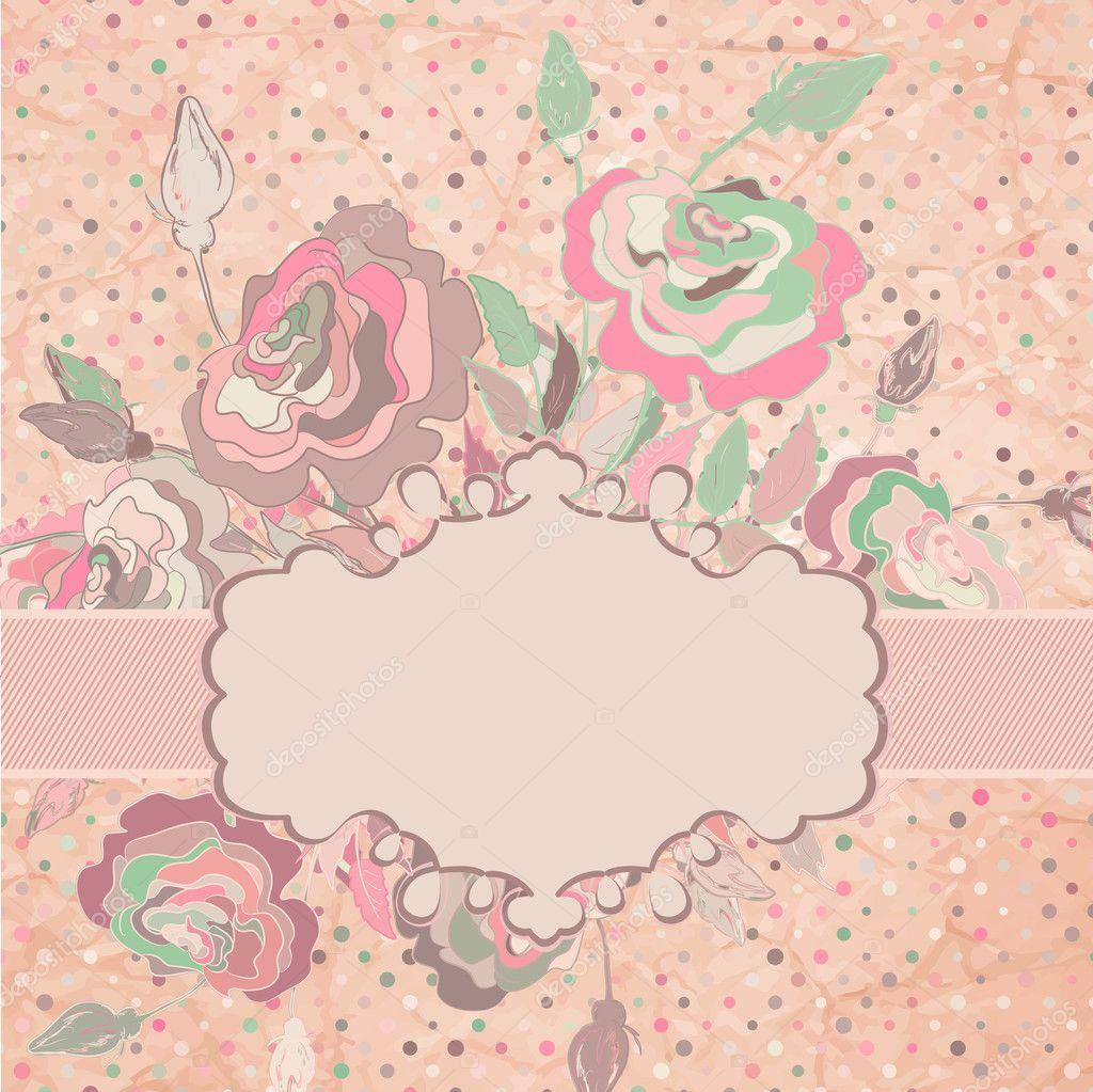 vintage flower pattern template eps 8 stock vector