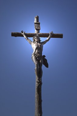 Statue of Jesus Christ on a cross