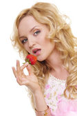 Photo Girl with strawberry