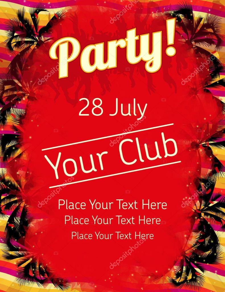 Sommer Party Flyer Vektor Vorlage — Stockvektor © RoboLab #11025068