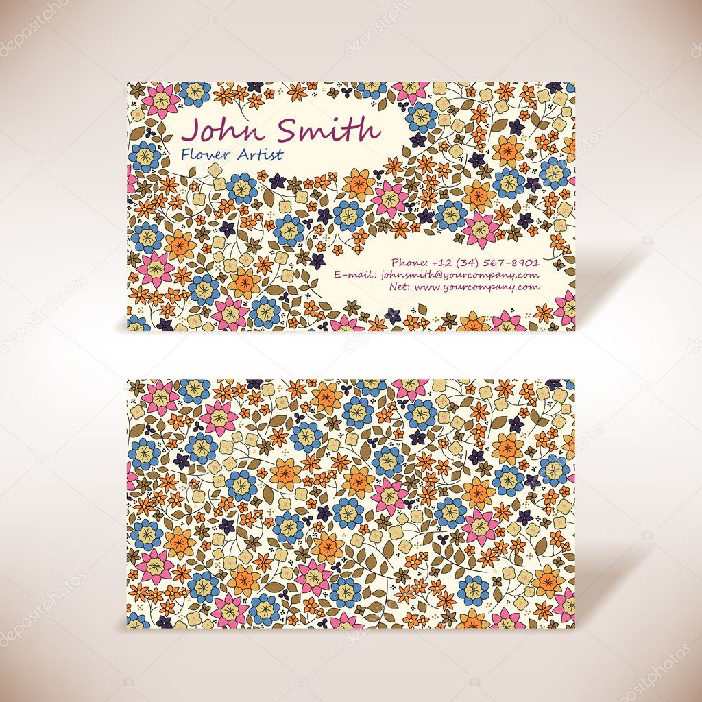 Small flowers business-card