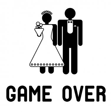Funny wedding symbol