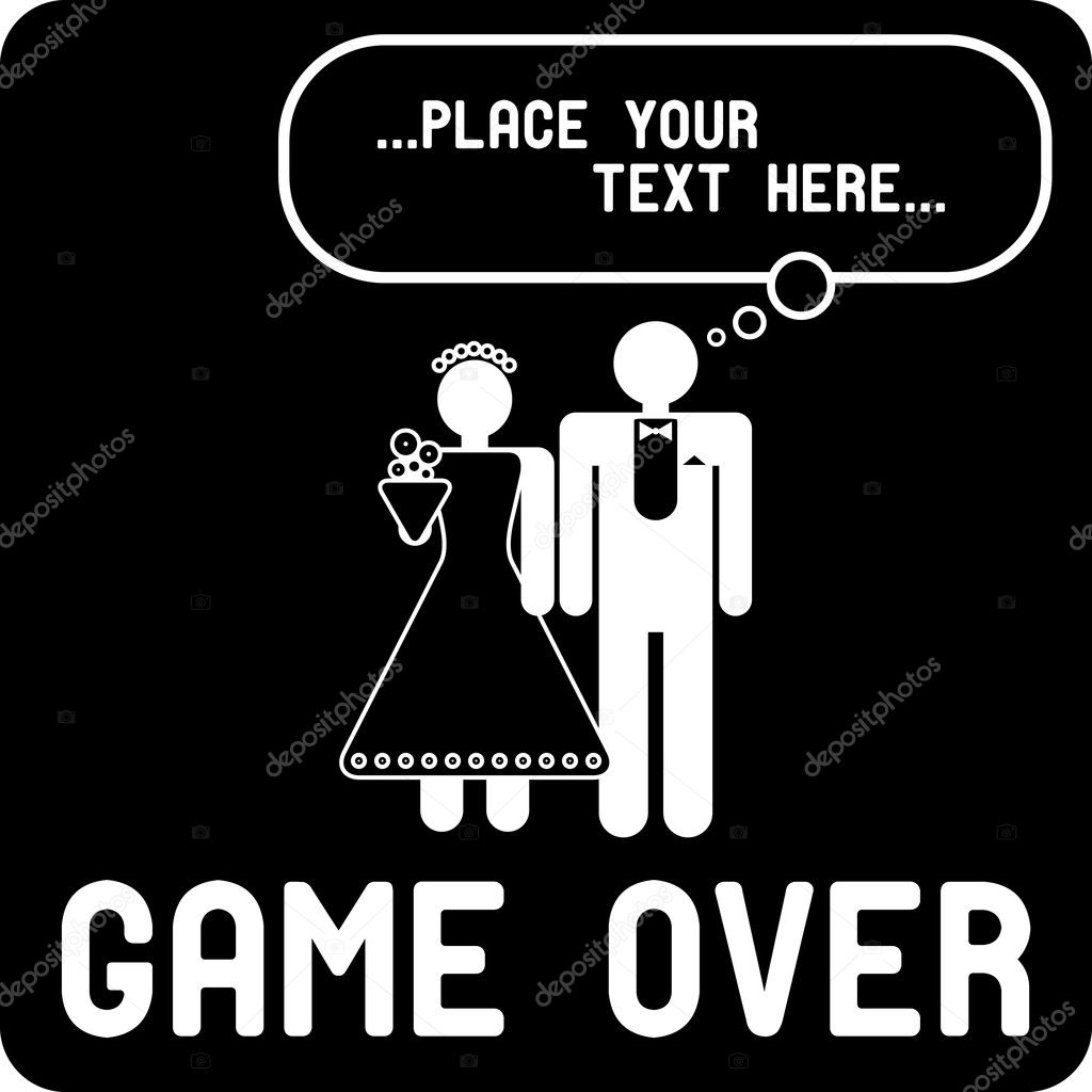 Áˆ Married Game Over Stock Pictures Royalty Free Game Over Wedding Icon Download On Depositphotos