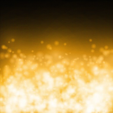 Bubles on gold technology background