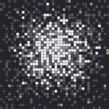 Abstract pixel mosaic