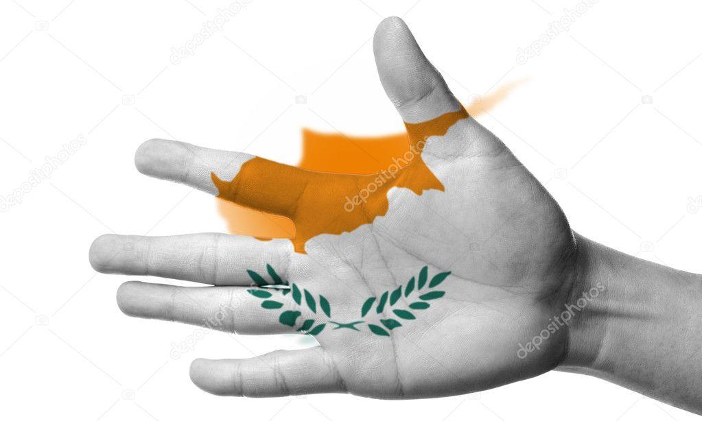 Kıbrıs Bayrağı Boyama Stok Foto Hin255 11653771
