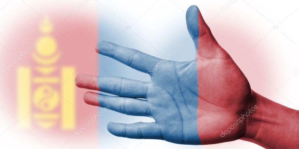 Moğolistan Ulusal Bayrak Boyama Stockfoto Hin255 11659640